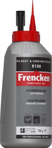frencken k100 pu constructielijm flacon 750 gram