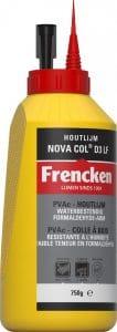 fles van 750 gram d3 houtlijm van novacol
